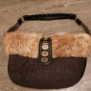 Coach black bag. As it is.